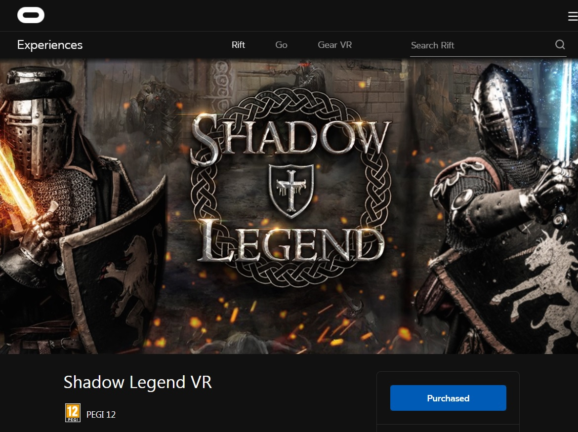 Shadow Legend - reviews and impressions - better than Skyrim VR