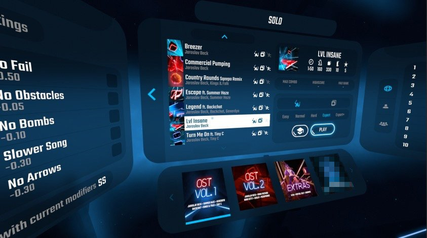 Beat Saber / campaign / OST2 / free tracks — Oculus