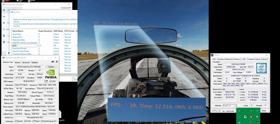 DCS World 2 5 - GTX 1060 6GB — Oculus