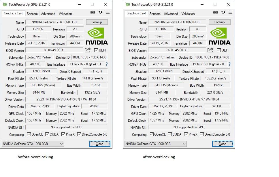 i overclocked my gtx 1060 6gb, heres how — Oculus