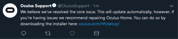 update fixed — Oculus