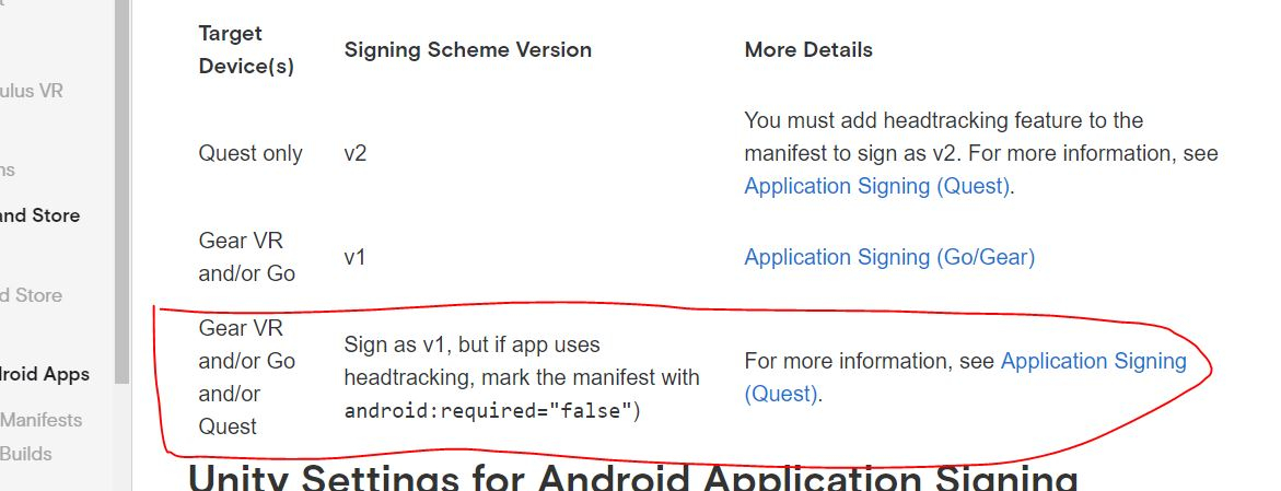 Quest + Unity 2019: APK Signed with Signature Scheme V1 — Oculus