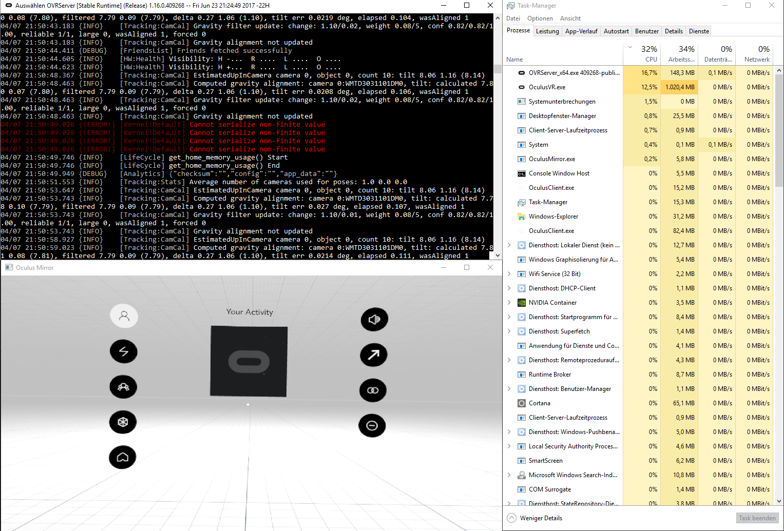 OVRServer_x64 exe high cpu usage - is this normal? — Oculus