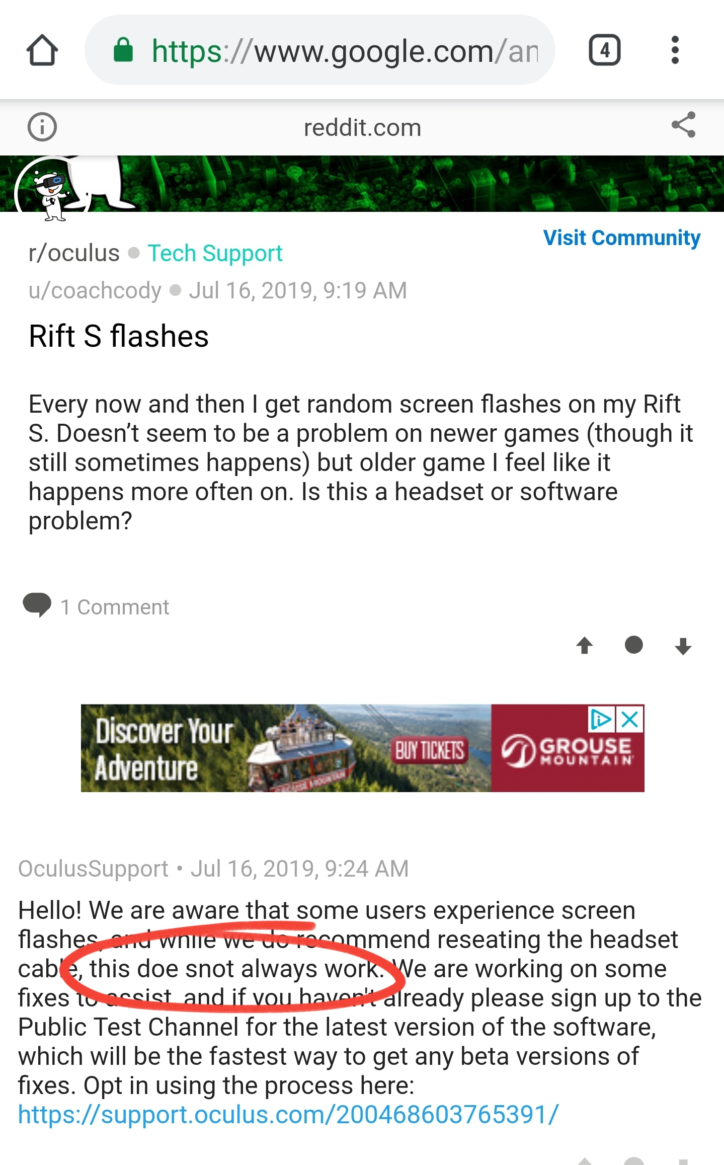 White Static Flashes in Rift S - Page 13 — Oculus