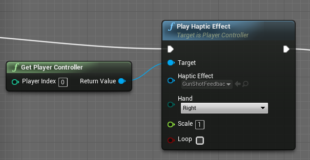 Can't get haptic effect to work in UE4 with touch