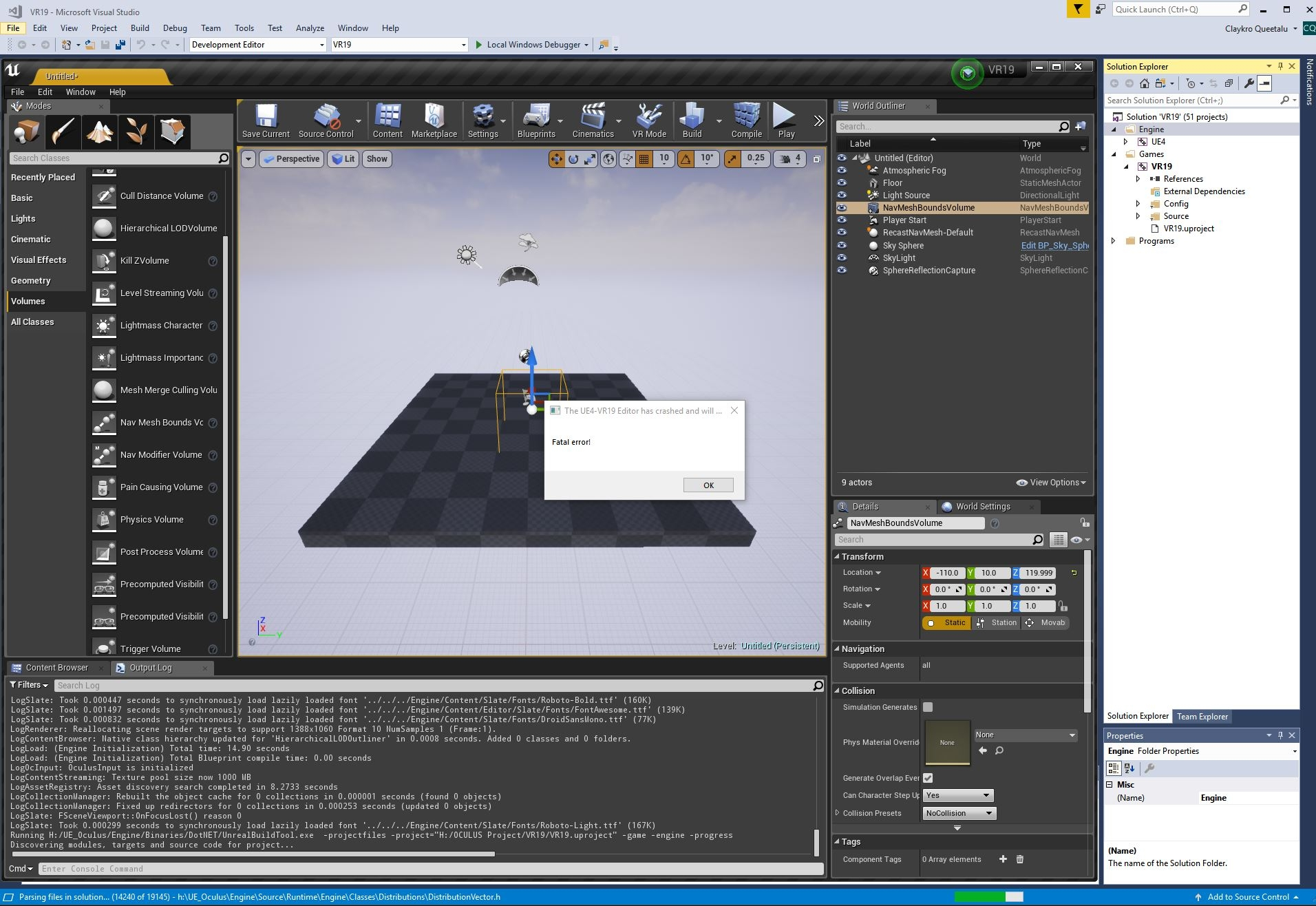 SOLVED] Crash with Unreal Engine 4 Integration 1 24 0 — Oculus