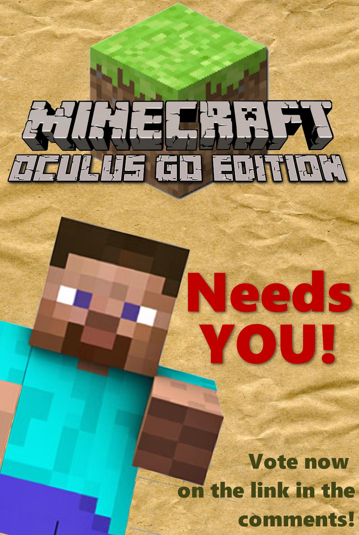 Minecraft Oculus GO Edition needs YOU! — Oculus