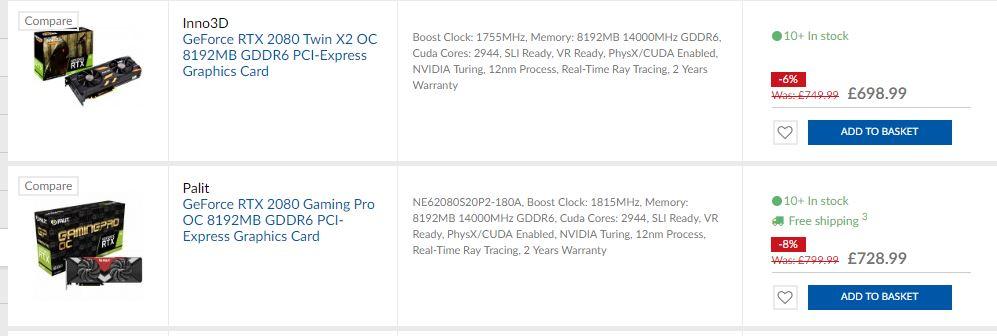 Gtx1080Ti and RTX 2080Ti best price/comparison thread - Page