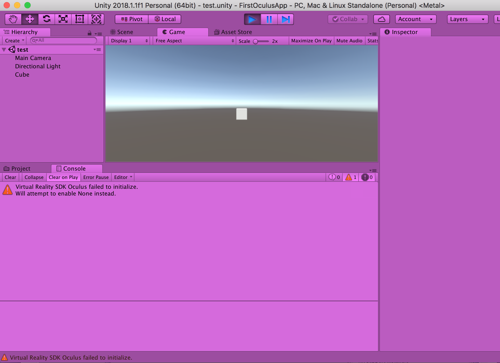Can I develop an Oculus Rift/Unity app on a Mac (but test on