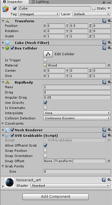 OVRGrabber without OVRAvatar — Oculus