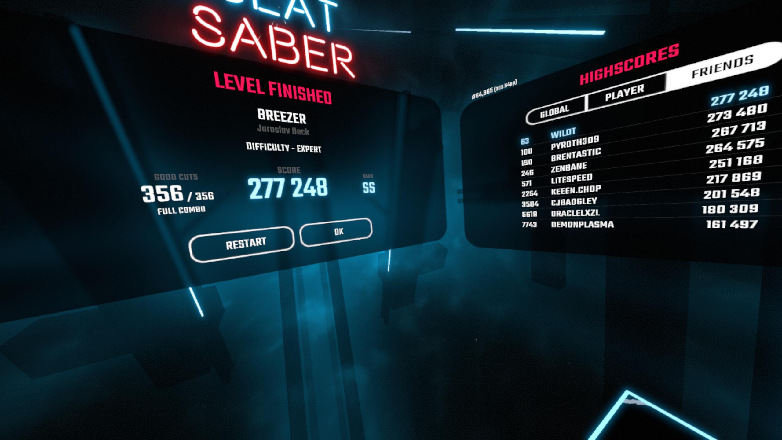 Beat Saber - Community Rankings! - Page 7 — Oculus