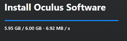 Oculus Client exe hangs at the loading screen with the