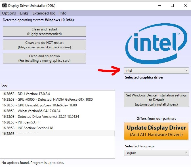 Have integrated Intel graphics on your motherboard but use your