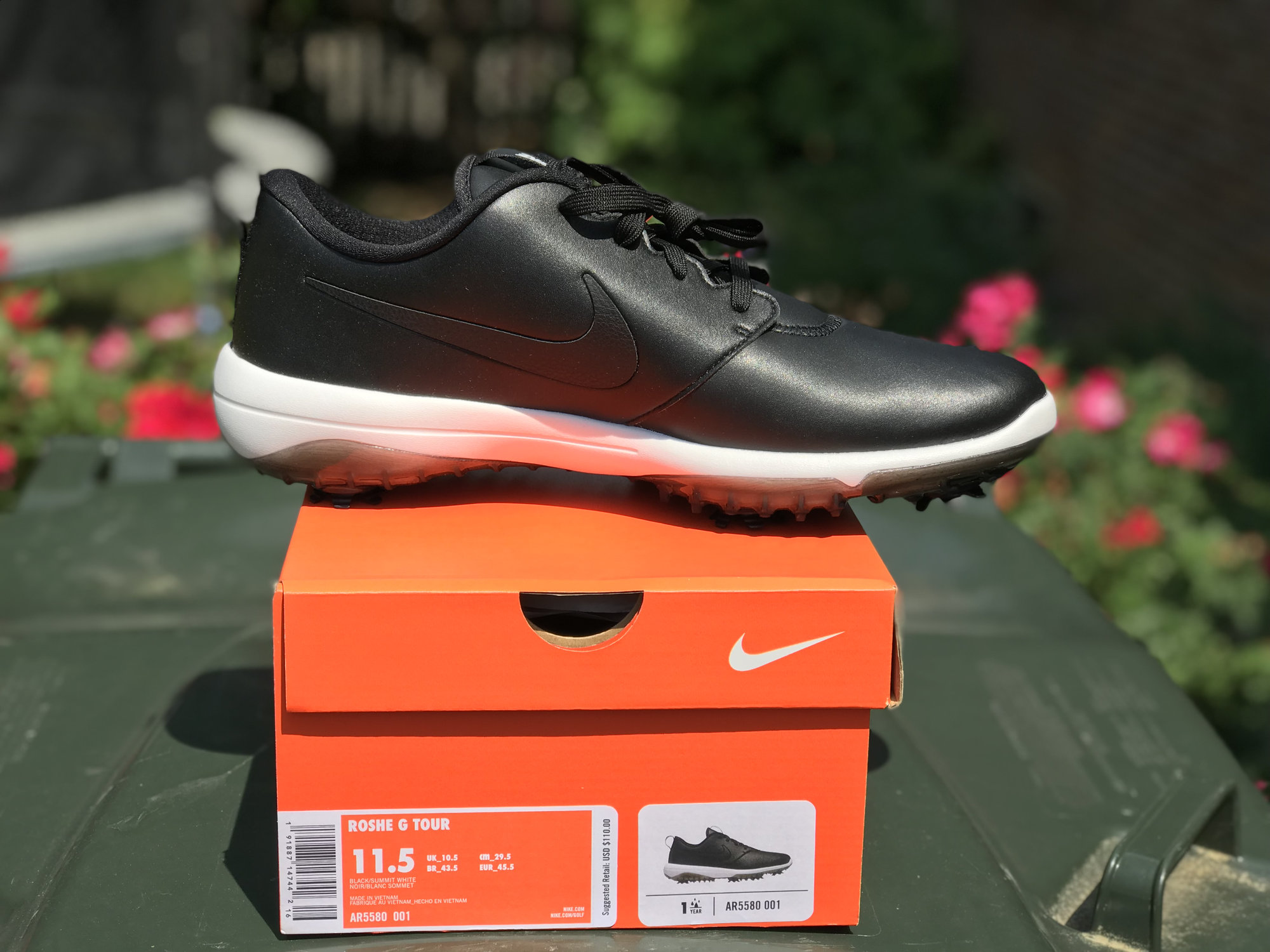 496e0c848a **Brand New in box Nike Roshe G Tour shoes, size 11.5, black & white. Never  worn.