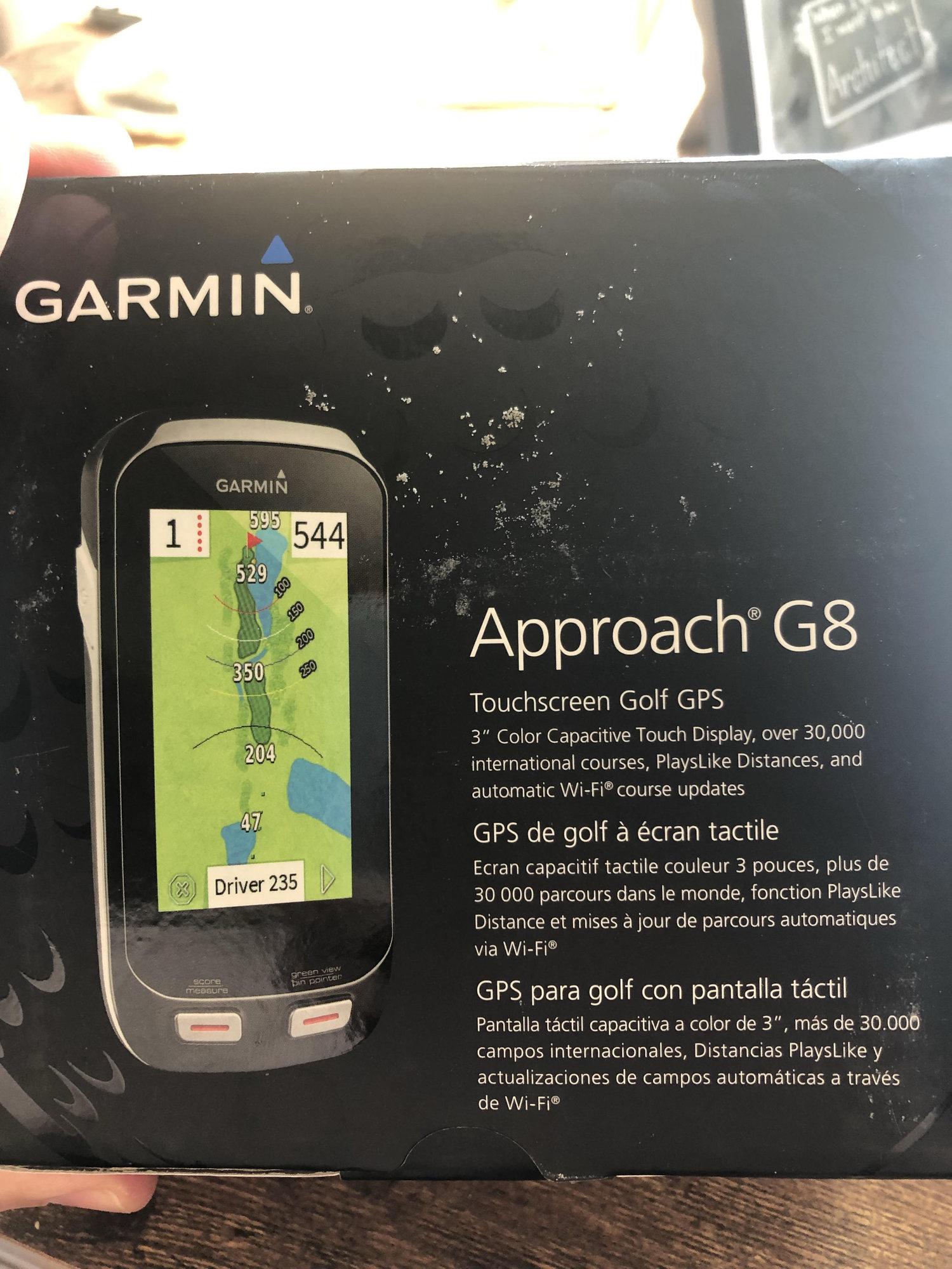 Garmin G8 Approach Original Box and receipt  Great shape  — GolfWRX