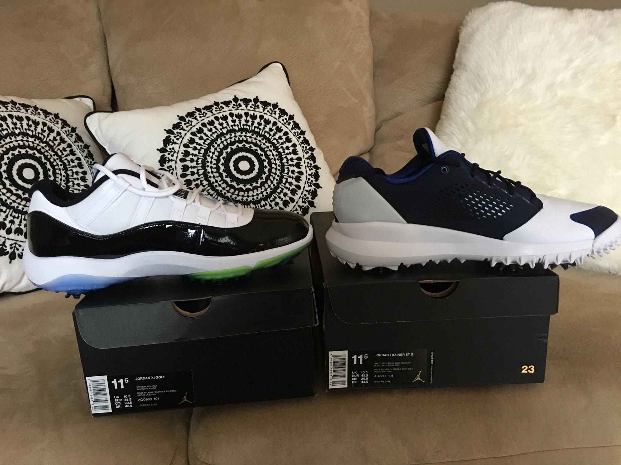 super popular 90f93 c9ae3 Jordans size 11.5 - Retro 11 and ST G trainer — GolfWRX
