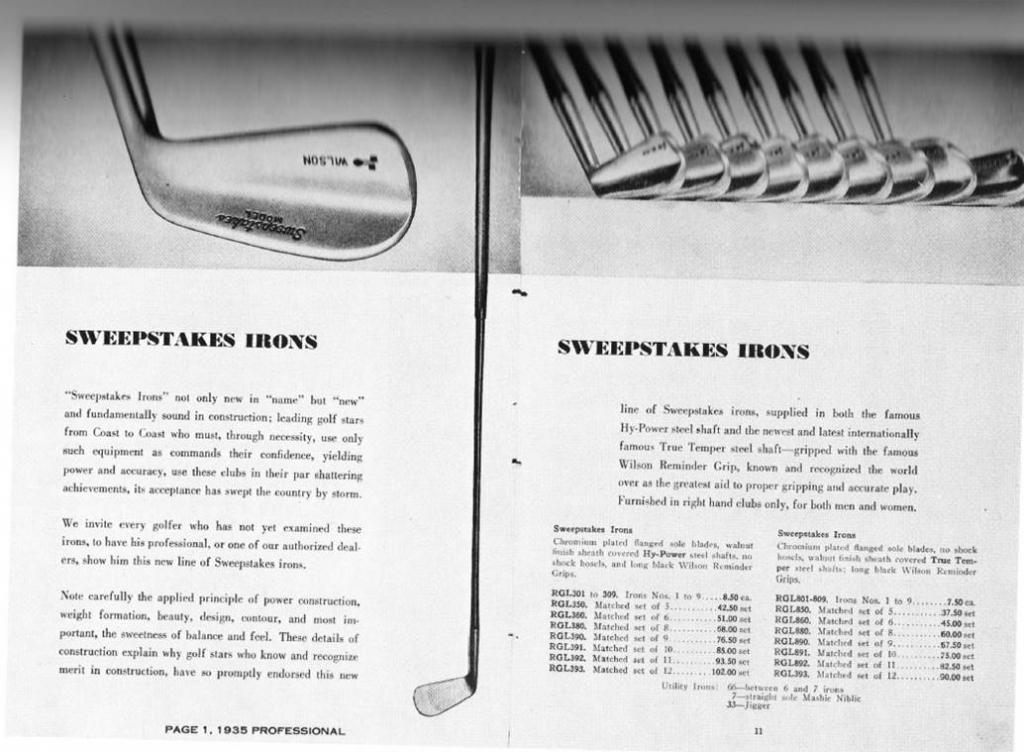 Wilson Sweepstakes irons - Page 2 — GolfWRX