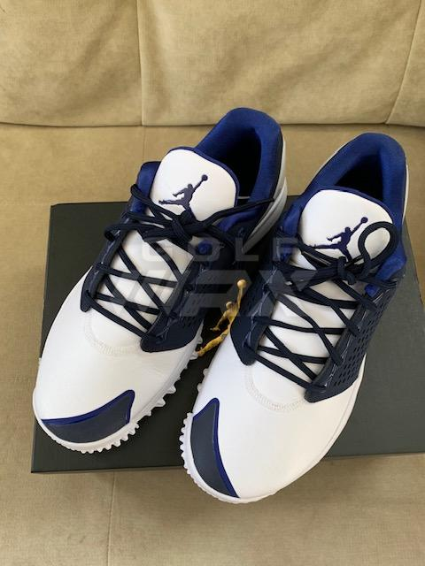 3f7c6acbecd0 Price Drop! New Jordan Trainer ST Golf shoes Size 10 White Navy ...