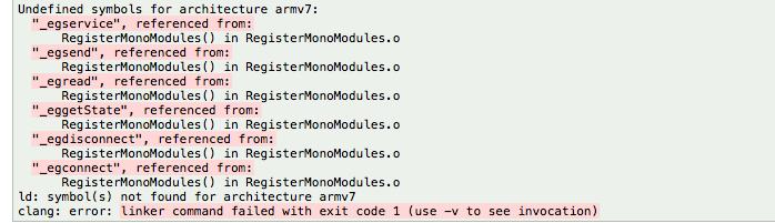Unity Xcode Clang Error
