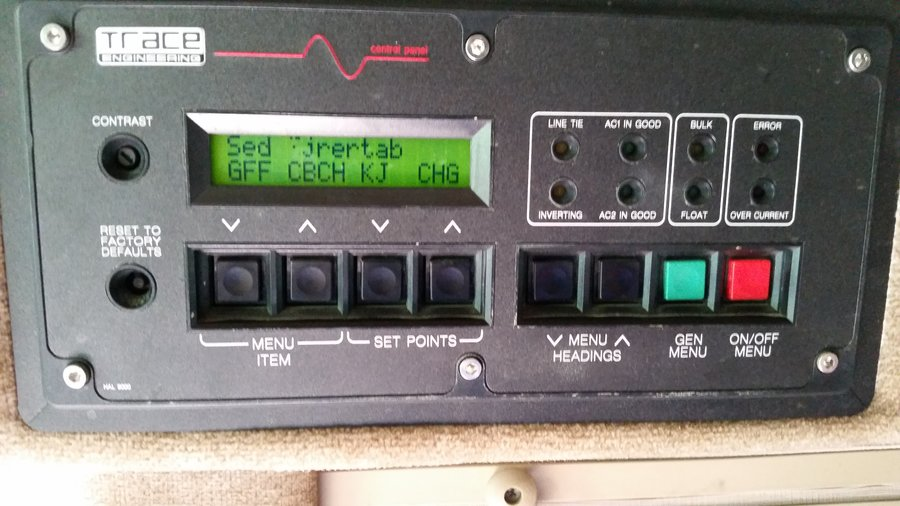 Trace Engineering Inverter Charger Control Panel Issue