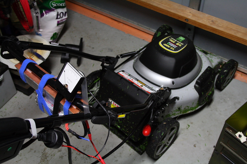 Powering 120v Ac Corded Lawn Mower With Litium Battery