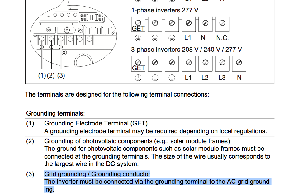 Grounding wire connection for fronius gt inverter question screenshot 2014 01 06 091701g swarovskicordoba Choice Image