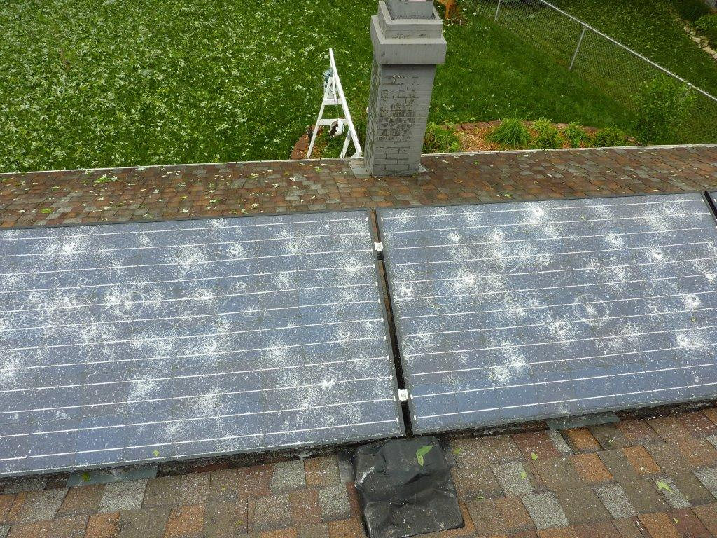 Solar Panel Damage From Hail Storm