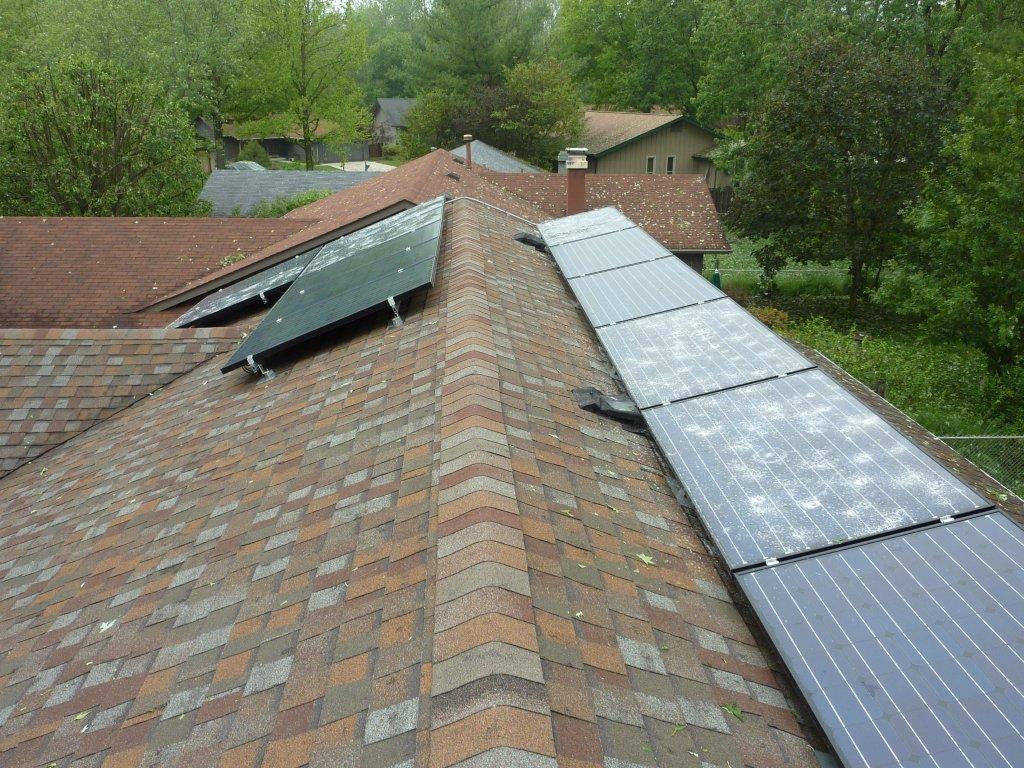 Solar Panel Damage From Hail Storm Northernarizona