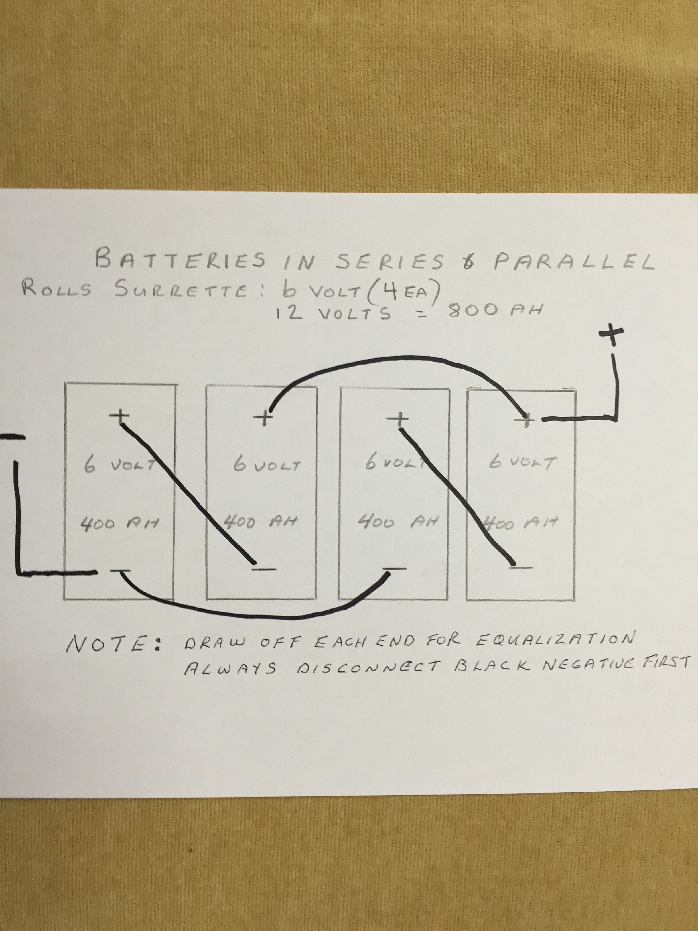 Looking For Advice On Series Parallel Connection 4x 6v Wiring Batteries In Or Correct