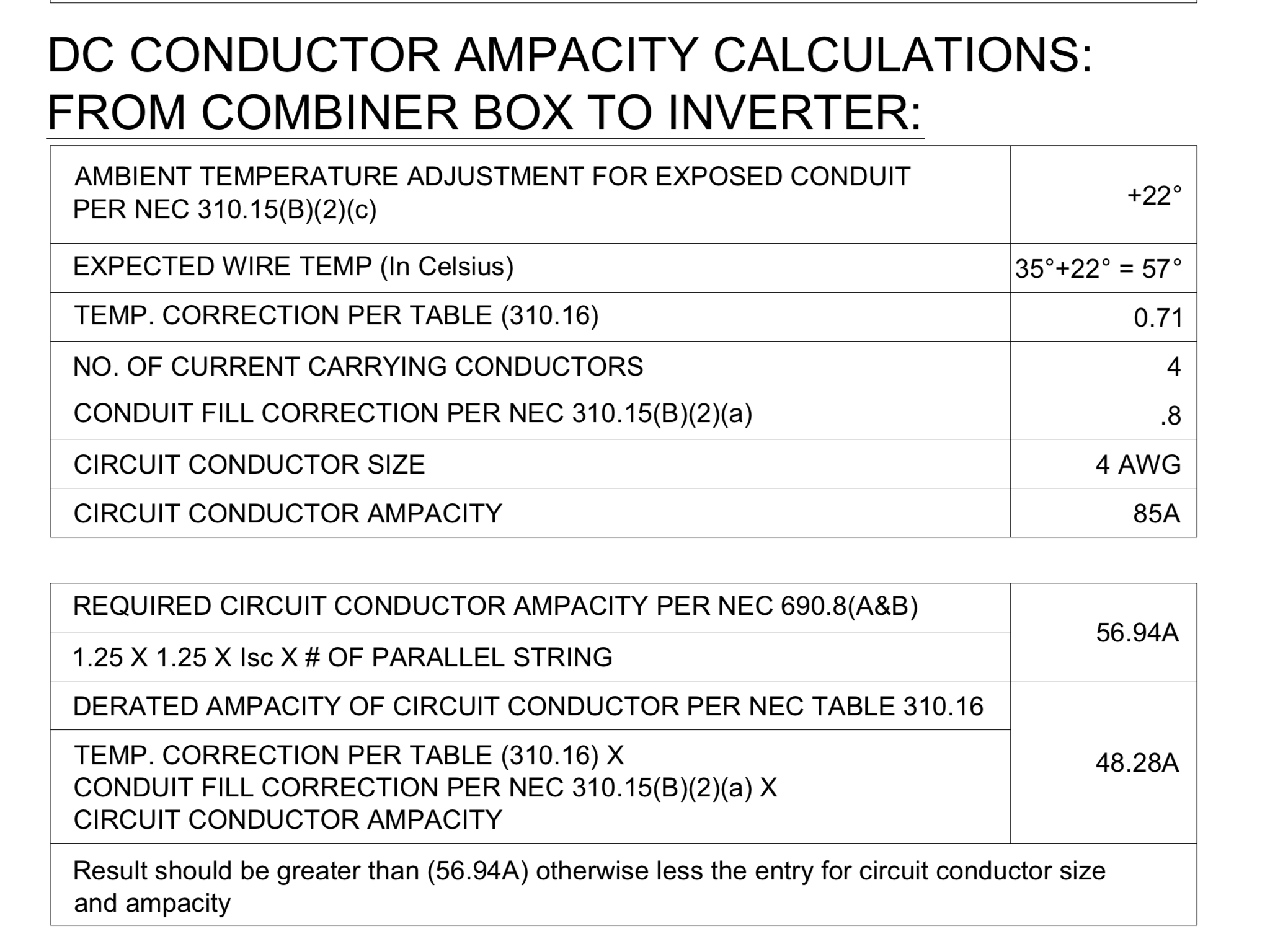 Dc conductor ampacity calculations help northernarizona windandsun i used an online company to do my solar site plan packet for my local building safety department they have done some calculations that look a little off keyboard keysfo Image collections