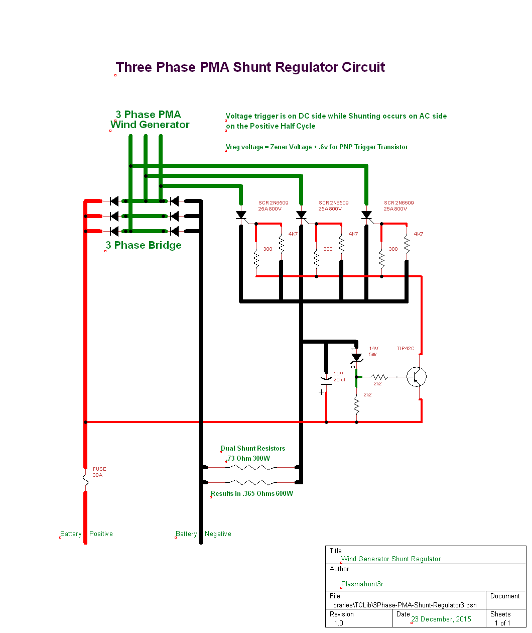 12v 3 Phase Wind Generator Wiring Diagram Library Regulator On Stator 3phase Pma Shunt Regulator3