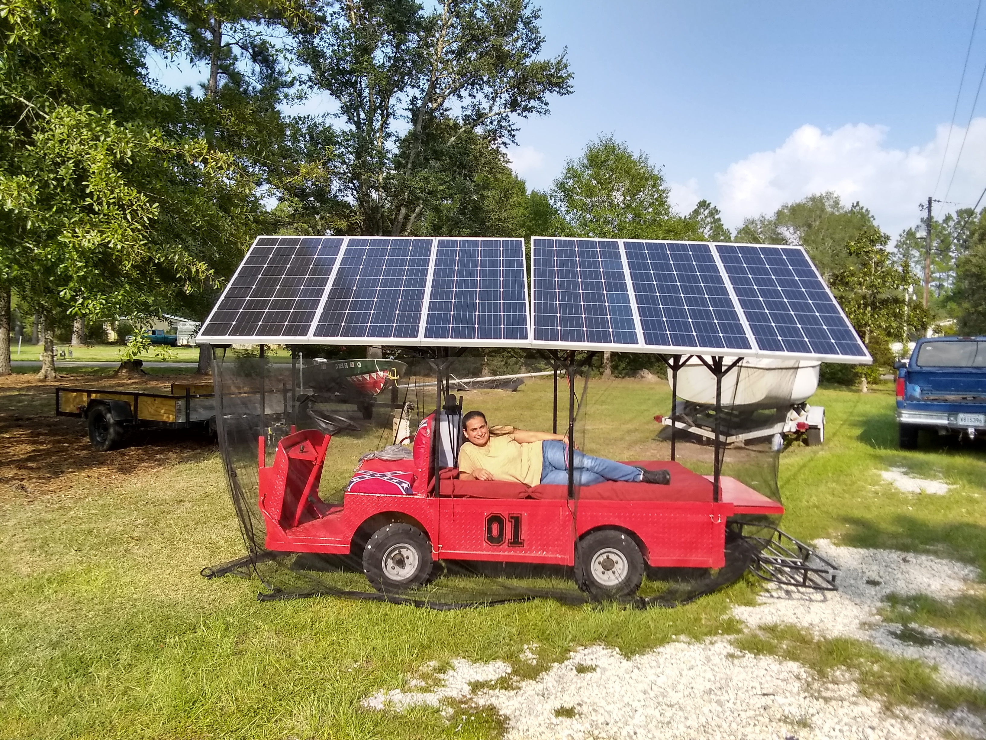 Pv Backup System Using 48v Golf Cart Northernarizona Windandsun Solar Powered Cars Diagram Work Energy Voltage X Img 20180824 165654288 Hdr 32m