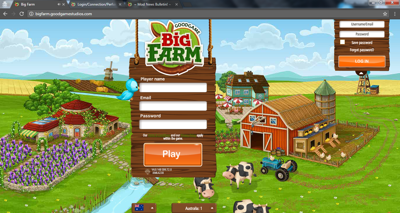 Big Farm Login Probleme
