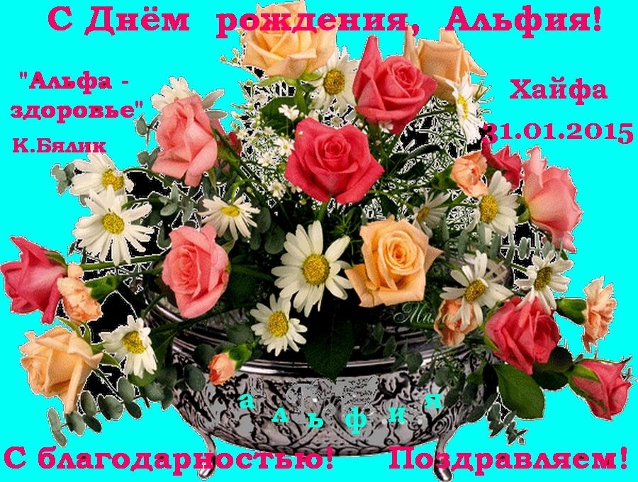 Днем рождения, альфия с днем рождения открытки гифы