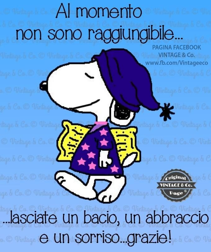 Buonanotte Snoopy Bacio Images