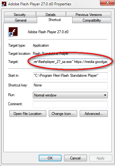 standalone flash player linux