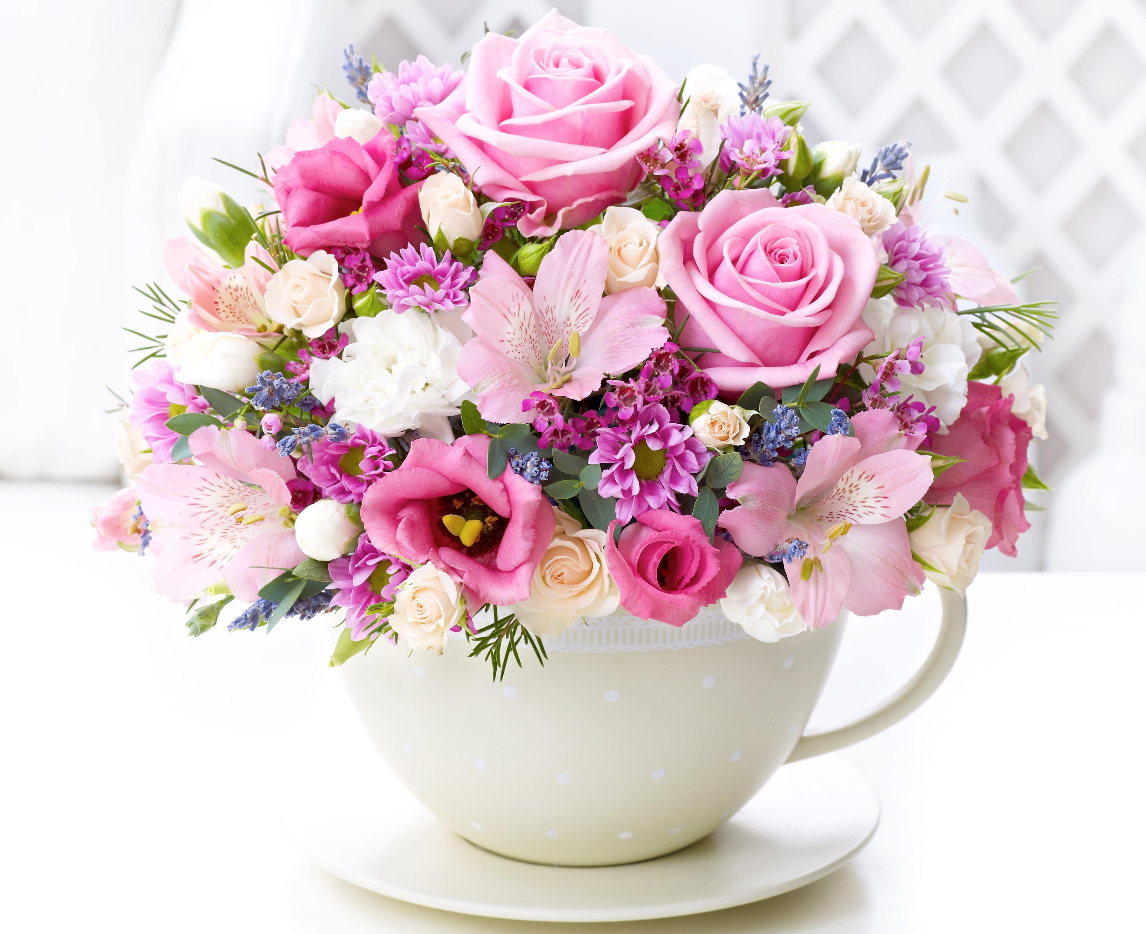 С днём рождения картинки цветы