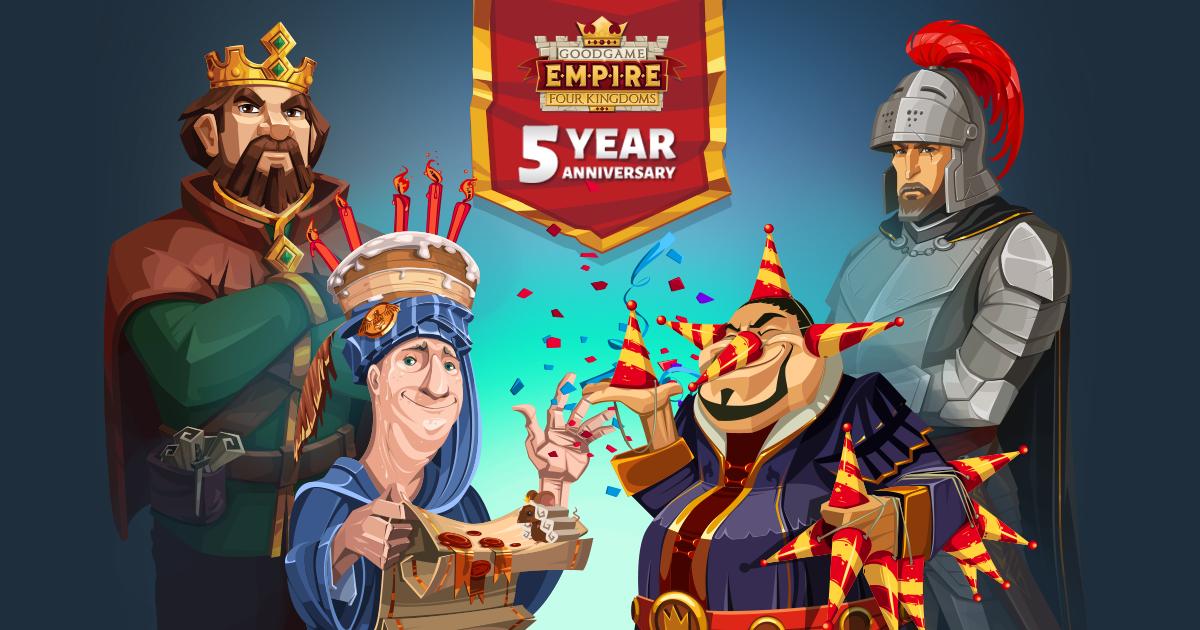 EMPIRE FOUR KINGDOMS- 5 ANIVERSARIO Vamos a celebrarlo en el foro   Empire Four Kingdoms - Forum