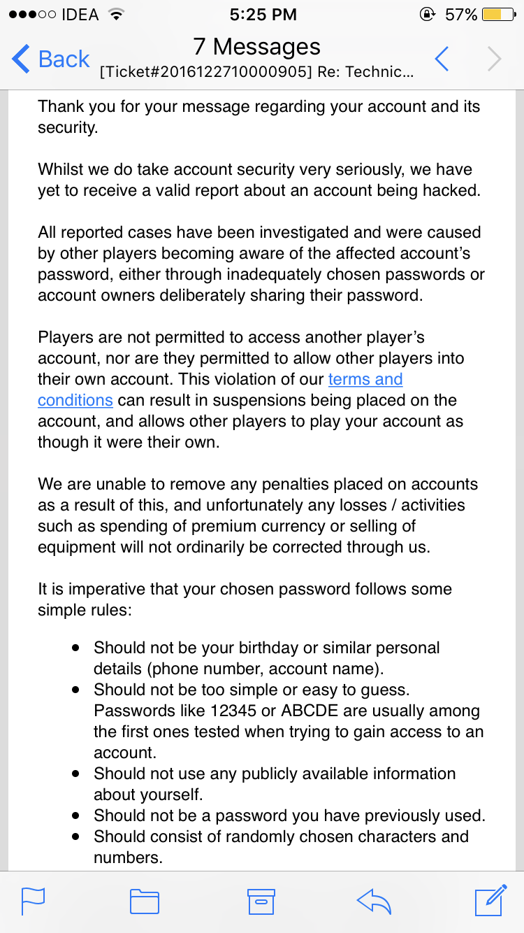 MY ID HACKED — Empire: Four Kingdoms - Forum