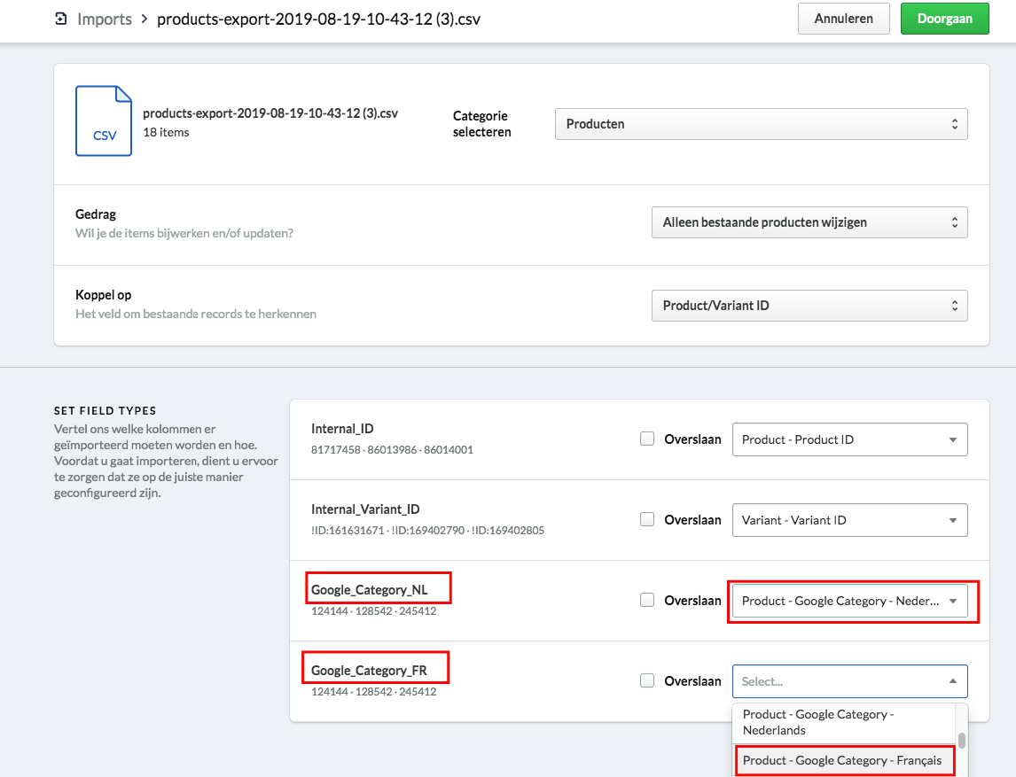 Screenshot import Google category.png