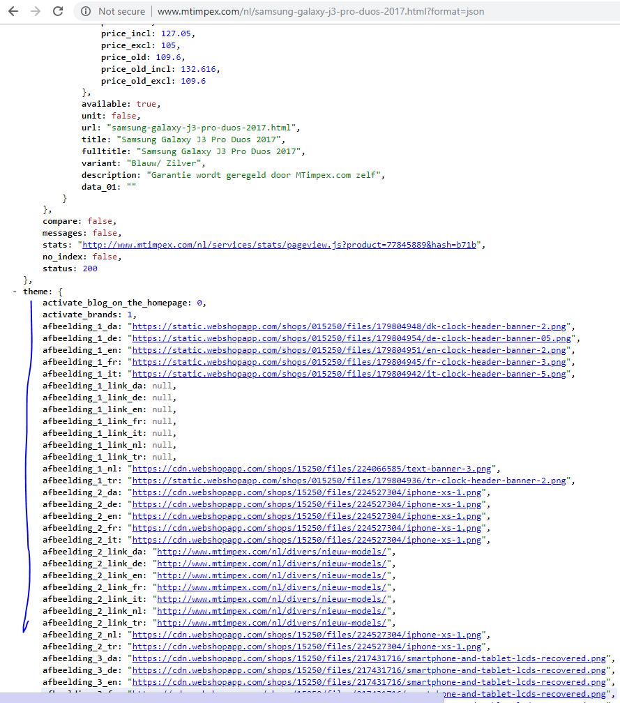 How do I get images of the theme via ecom lightspeed API