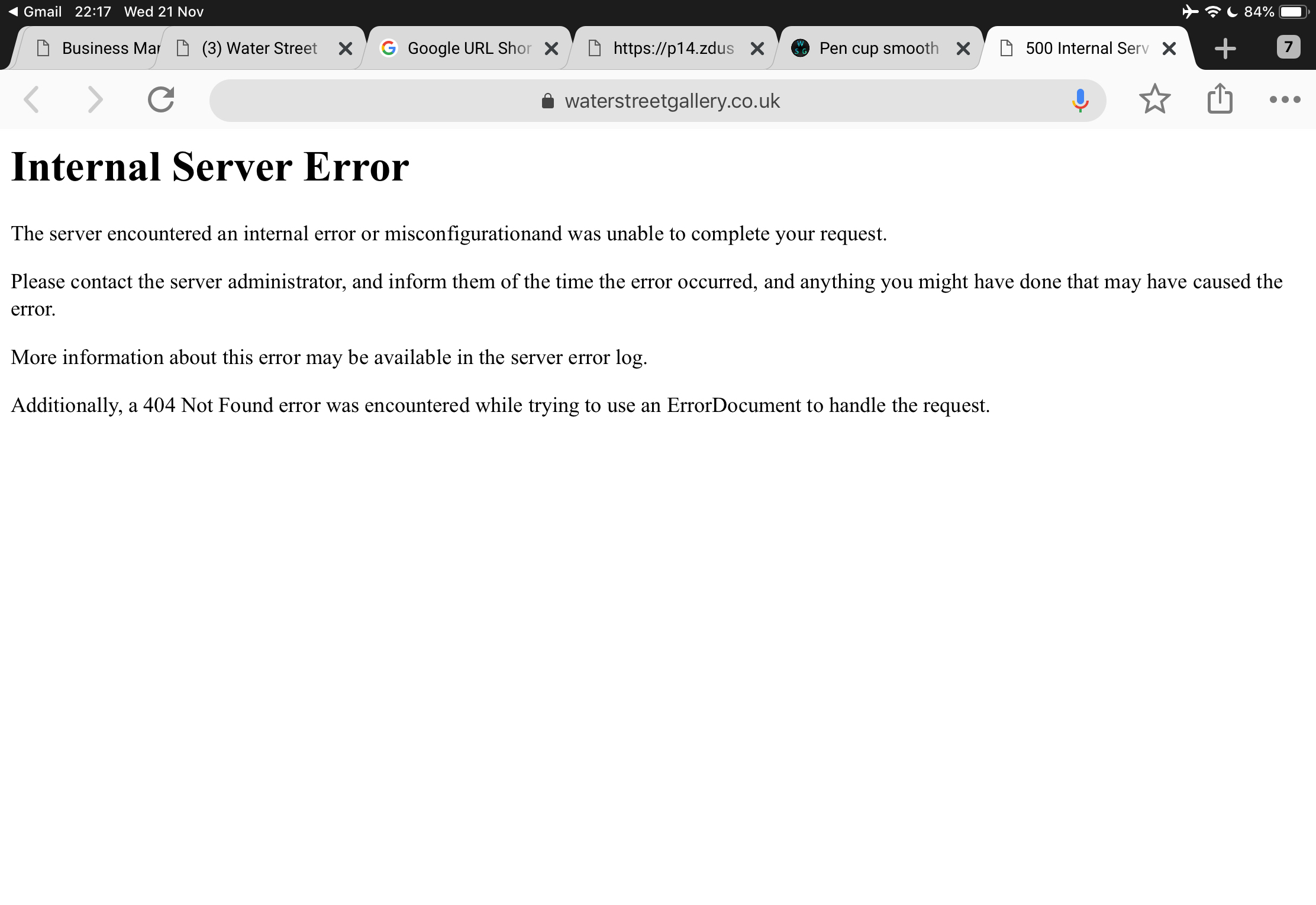Server Errors - Front End - Incident not resolved