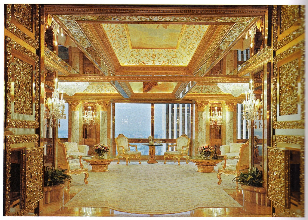 Trump's golden apartment
