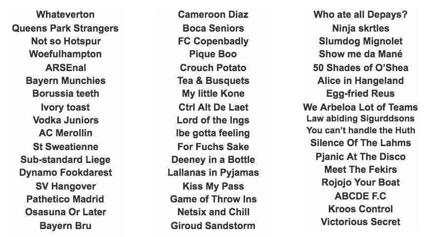 Euer Fifa 18 Teamname - Seite 6 — FIFA Forums