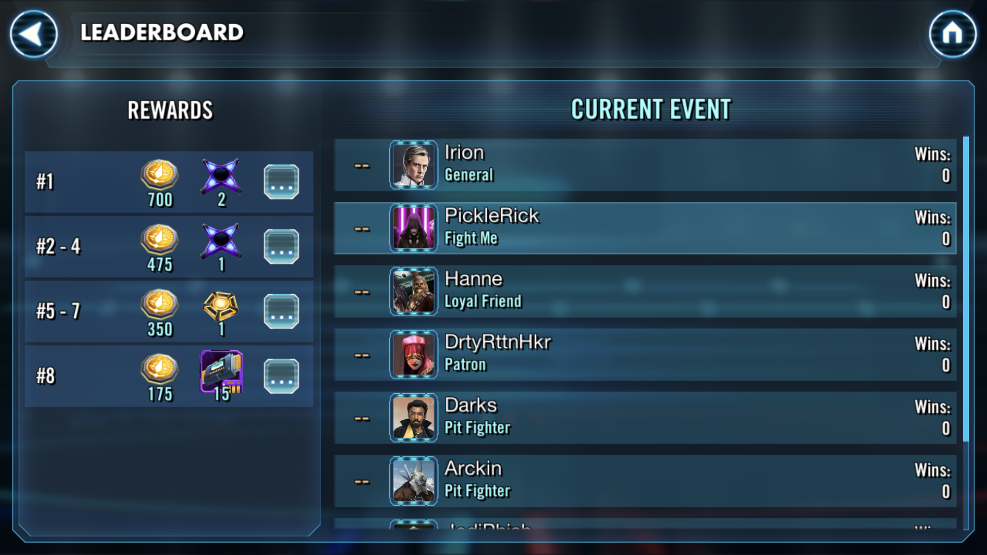 Grand Arena Championship Matchmaking  — Star Wars Galaxy of Heroes