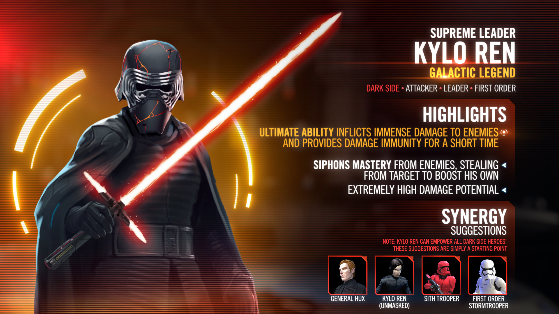 Kit Reveal Supreme Leader Kylo Ren Star Wars Galaxy Of Heroes Forums