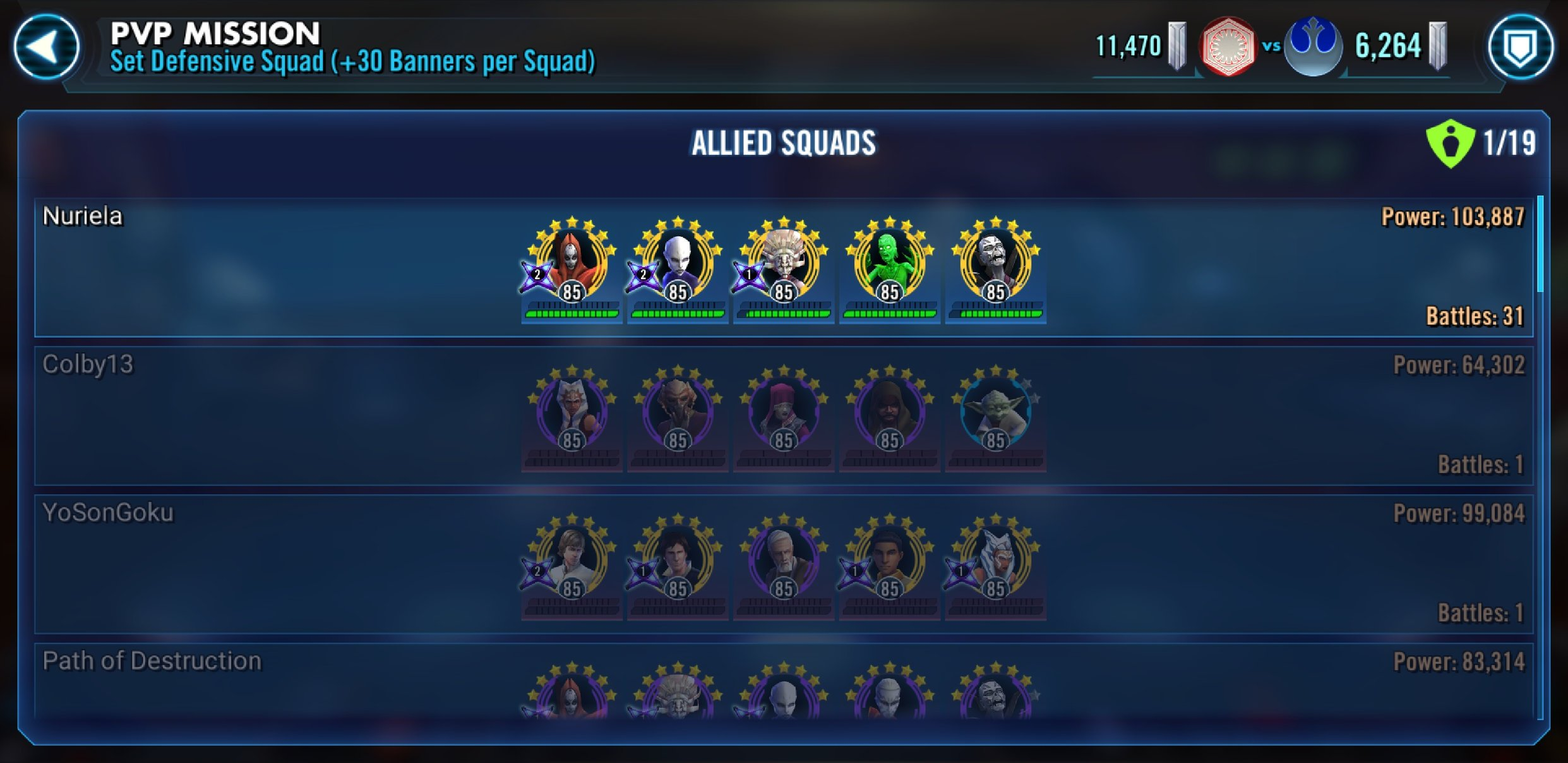 Best Nightsister Squad — Star Wars Galaxy of Heroes Forums