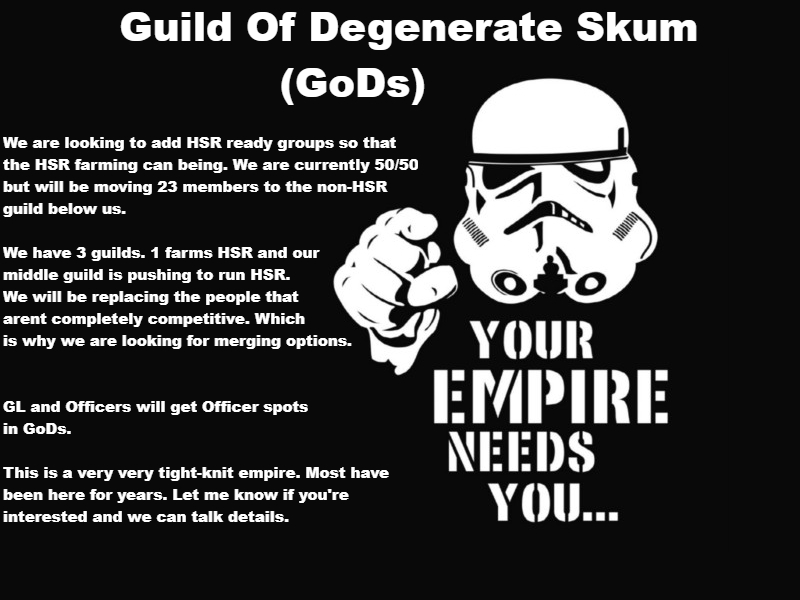 Guilds Looking For Mergers - October 2018 *** READ RULES IN