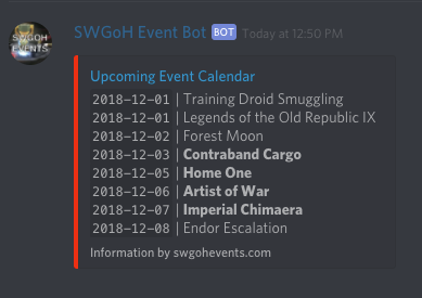 Swgoh Events Calendar.Where Can I Find The December 2018 Calendar Page 3 Star Wars