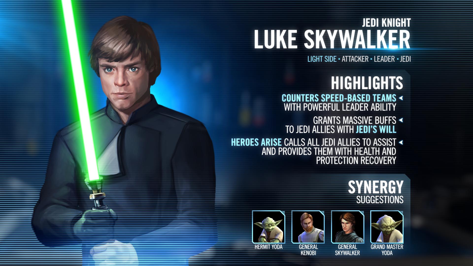Kit Reveal Jedi Knight Luke Skywalker Star Wars Galaxy Of Heroes Forums